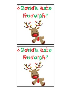 Spanish Language Christmas Spatial Concepts