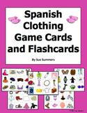 Spanish Clothing / Any Language 60 Game Cards / Flashcards