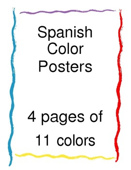 Spanish Language Color Posters
