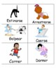 Spanish Language Development - Vocabulary - Actions - Pictures/Quiz/Worksheet