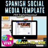 Spanish Language Social Media Profile Template - Speaking Activity