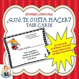 Spanish Language Task Cards  for Que te gusta hacer or Thi