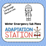 Spanish Language Winter Emergency Sub Plans for Special Education Classrooms