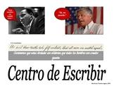 Spanish Language Writing Center Sign: Centro de Escribir