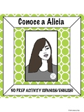 Spanish Language and Cultural Activity: Alicia