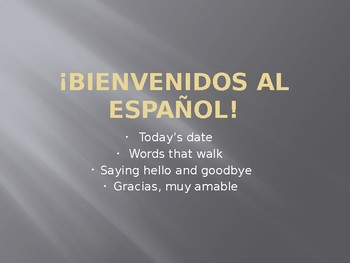 Spanish Language and Culture: Lesson 1, Greetings