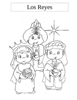Spanish Language and Culture for Preschoolers - (Holiday) 3 Kings Color Sheet