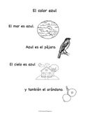 Spanish Language and Culture for Preschoolers - Blue Color Sheet