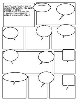 Spanish Learning Comic Strip