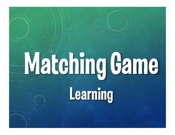 Spanish Learning Matching Game