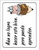 Spanish Learning Mindsets / Growth Mindset chart & signs with graphics