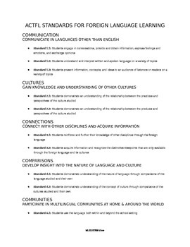 Foreign Language Learning Plan Template