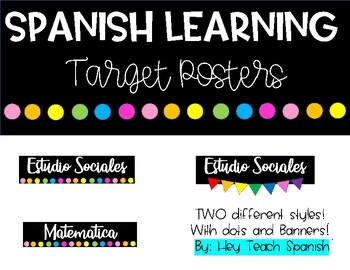 Spanish Learning Target Posters