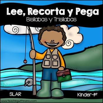 Spanish: Lee, Recorta y Pega (Bisílabas y Trisílabas)