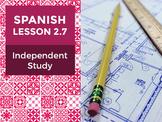 Spanish Lesson 2.7: Un Mapa de mi Hogar - Independent Study
