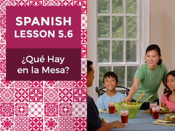Spanish Lesson 5.6: ¿Qué Hay en la Mesa? - What Is on the Table?