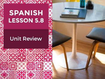 Spanish Lesson 5.8: Mi Espacio Personal - Unit Review