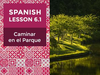 Spanish Lesson 6.1: Caminar en el Parque - Walking in the Park