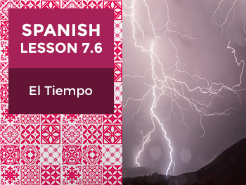 Spanish Lesson 7.6: El Tiempo – The Weather