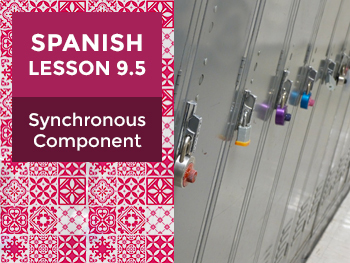 Spanish Lesson 9.5: Synchronous Component - Teacher Notes