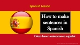 Spanish Lesson: How to make sentences in present tense wit