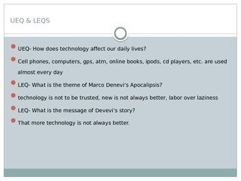 Spanish Lesson-  Marco Denevi Technology