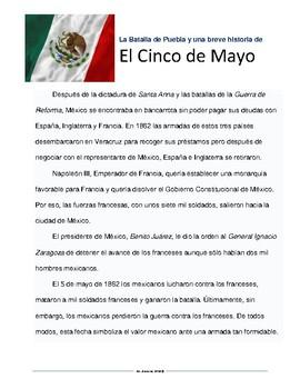 Cinco de Mayo Spanish Lesson Materials