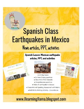 Spanish Lesson: Mexico Earthquake Activities