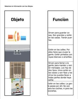Spanish Lesson Plan: Objetos y Funciones
