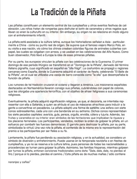 Spanish Lesson Plan: Parties & Social Gatherings