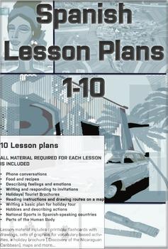 Spanish Lesson Plans Bundle 1
