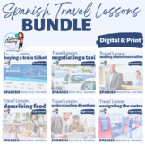 FIVE Lesson Spanish Travel Unit - Train, Taxi, Hotel, Food and Directions