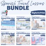 FIVE Lesson Spanish Travel Unit - Train, Taxi, Hotel, Food