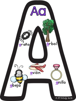 Spanish Letter Anchor Charts - FREEBIE