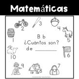 FREE - Spanish:  Letter B Counting Book 1-10 / Cuenta con la letra B