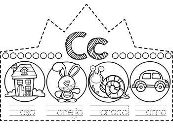 Spanish Letter Crowns - Beginning Sound Crowns Spanish