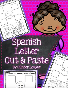 Spanish Letter Cut and Pastes by Kinder League