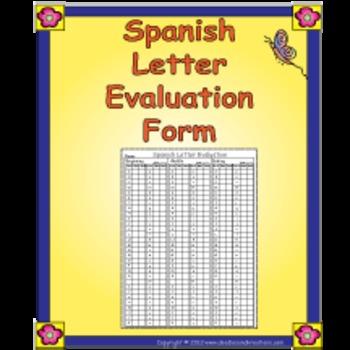 Spanish Letter Evaluation Form