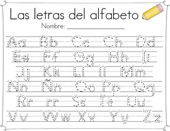 Spanish Letter Formation Reference Cards