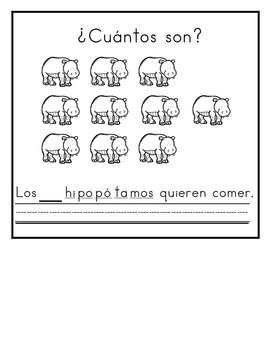Spanish:  Letter H Counting Book 1-10 / Cuenta con la letra H