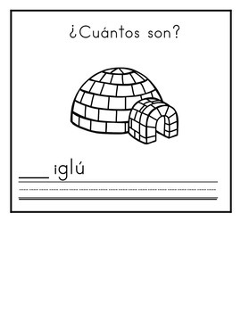 Spanish:  Letter I Counting Book 1-5/ Cuenta con la letra I