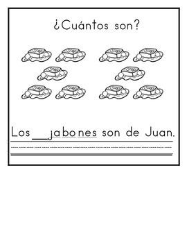 Spanish:  Letter J Counting Book 1-10 / Cuenta con la letra J