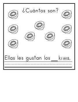 Spanish:  Letter K/Q Counting Book 1-10 / Cuenta con las letras K/Q