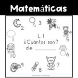 Spanish:  Letter L Counting Book 1-10 / Cuenta con la letra L