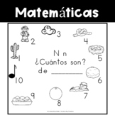 Spanish:  Letter N Counting Book 1-10 / Cuenta con la letra N