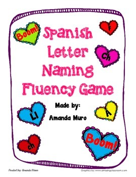 Spanish Letter Naming Fluency Game