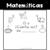 Spanish:  Letter O Counting Book 1-5/ Cuenta con la letra O