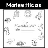 Spanish:  Letter P Counting Book 1-10 / Cuenta con la letra P