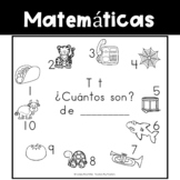 Spanish:  Letter T Counting Book 1-10 / Cuenta con la letra T