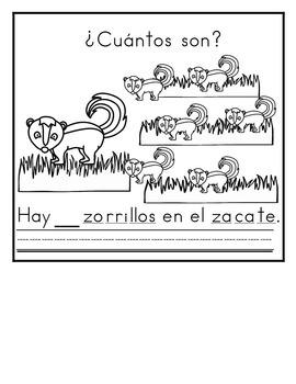 Spanish:  Letter Z Counting Book / Cuenta con la letra Z  1-10